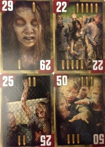 Artwork on the numbered cards
