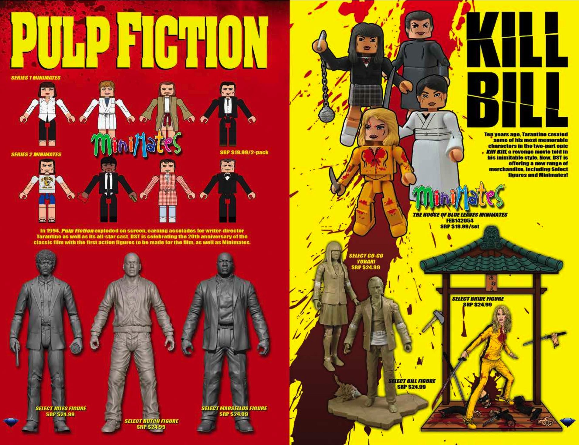 Pulp Fiction & Kill Bill Minimates and figures from Diamond Select