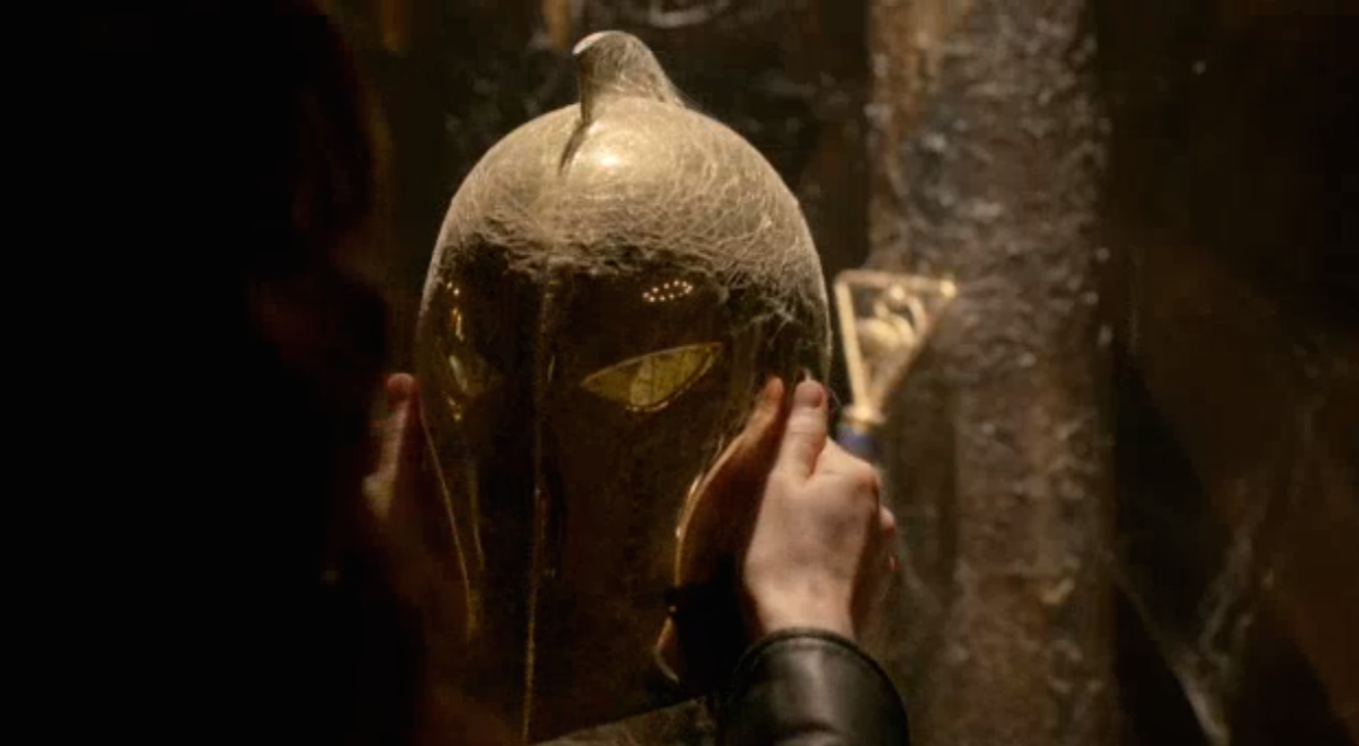 In the newest footage from NBC's new Fall show Constantine, there is a big hint to fans of the DC world tat the show takes place in the larger DC universe. Dr. Fate's Helmet