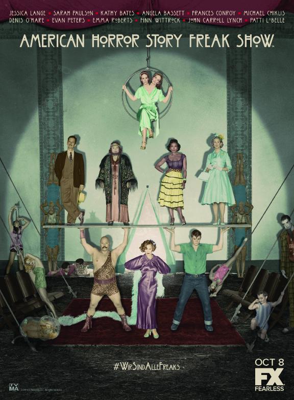 AHS Freak Show Cast Art