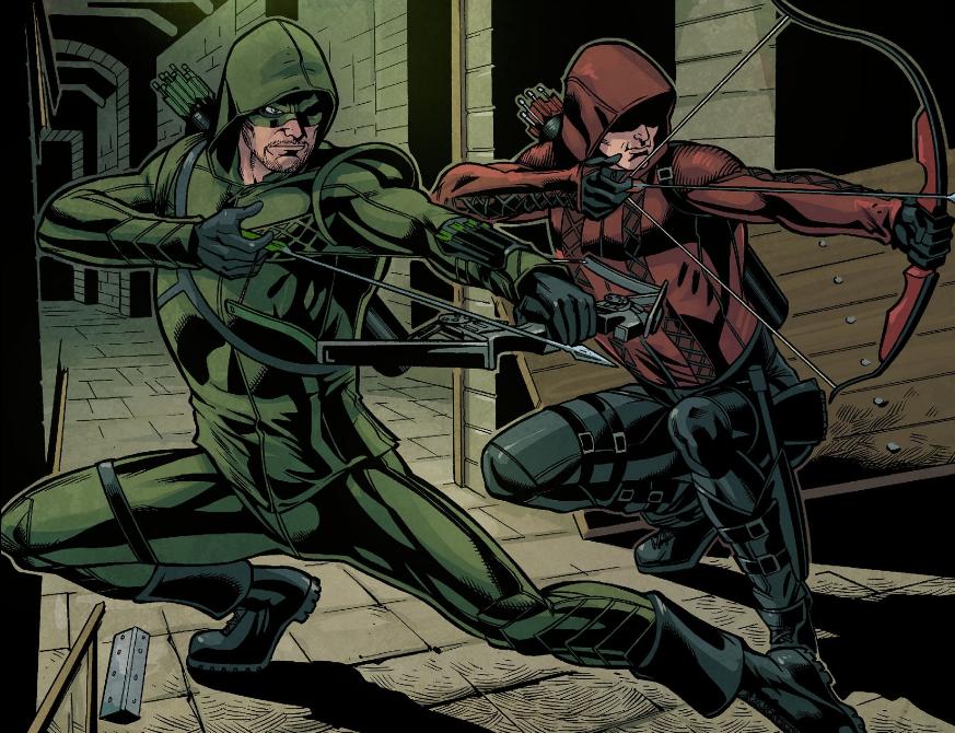 Arrow Season 2.5 #13 Oliver and Roy2