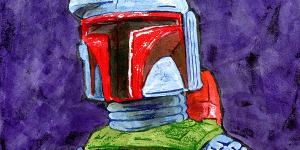 Bounty Hunter painting by Matt Cauley